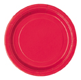"16 Red Paper Party Plates 9""/23cm"