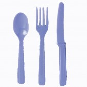 18 Piece Lavender Party Plastic Cutlery Set