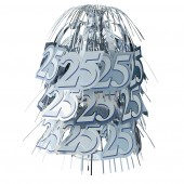 25th Anniversary Silver Wedding Cascade Table Centrepiece