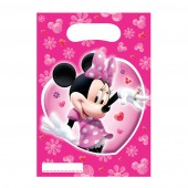 6 Minnie Mouse Clubhouse Plastic Loot/ Party Bags