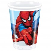 8 Spiderman Plastic Party Cups