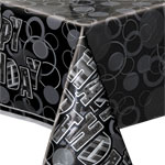 Black Glitz Plastic Tablecover