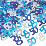 Blue Glitz 50th Birthday Party Confetti 14g