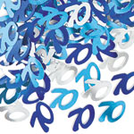 Blue Glitz 70th Birthday Party Confetti 14g