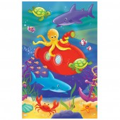 Deep Sea Fun Theme Paper Tablecover