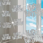 Glitz 'Happy Birthday' Hanging Decoration