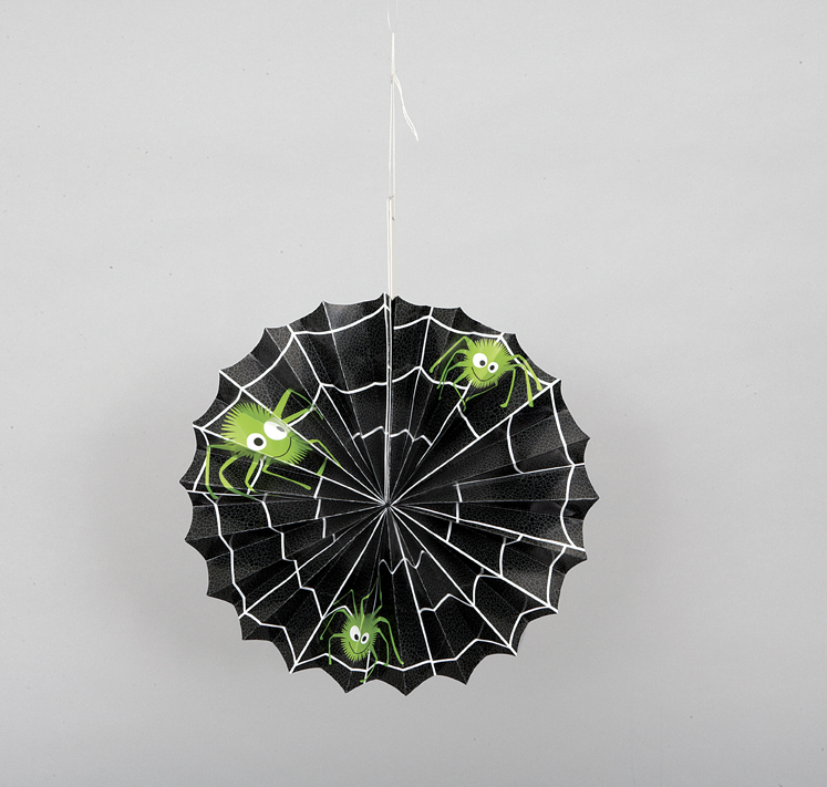 Halloween Spider Web Paper Accordian Hanging Decoration