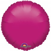 Round Hot Pink Foil Helium Balloon
