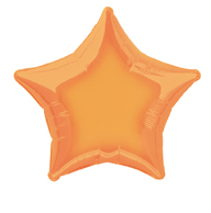 Star Shaped Orange Foil Helium Balloon