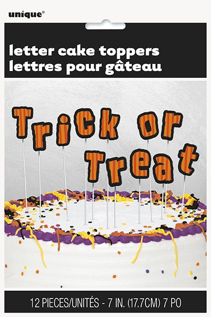 'Trick or Treat' Letter Cake Toppers