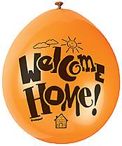 "10 Welcome Home 9"" Assorted Colour Balloons"