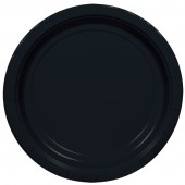 "16 Black Paper Party Plates 9""/23cm"