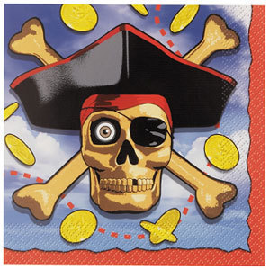 16 Pirate Bounty Paper Party Napkins