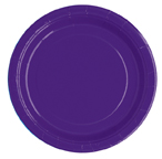 "16 Purple Paper Party Plates 9""/23cm"