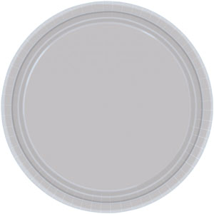"16 Silver Paper Party Plates 9""/23cm"