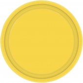 "16 Yellow Paper Party Plates 9""/23cm"