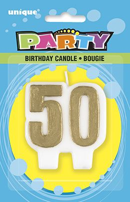 50th Anniversary Gold Candle 9084 P