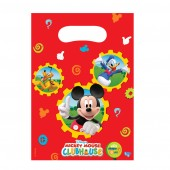 6 mickey Mouse Clubhouse Plastic Loot/ Party Bags