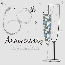 60th Anniversary Silver Anniversary Invitations