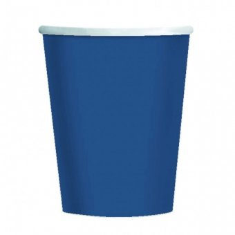 8 Blue Paper Party Cups