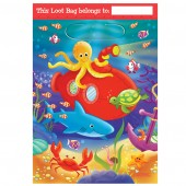 8 Deep Sea Fun Theme Plastic Loot/ Party Bags