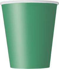 8 Green Paper Party Cups