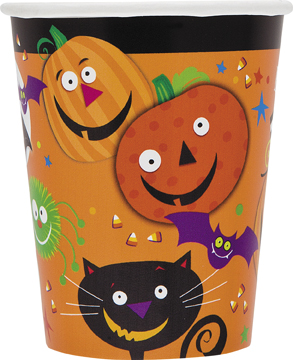 8 Halloween Spooky Smiles Paper Party Cups