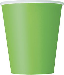 8 Lime Green Paper Party Cups