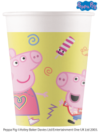 8 Peppa Pig Paper Party Cups