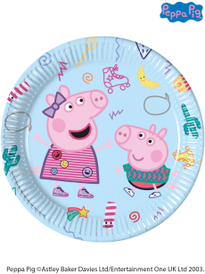 8 Peppa Pig Paper Party Plates