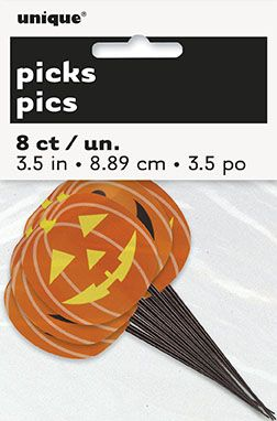 8 Plastic Pumpkin Food Decorations