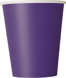 8 Purple Paper Party Cups