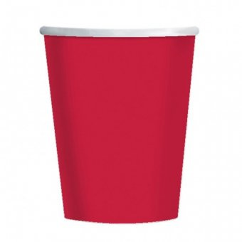 8 Red Paper Party Cups