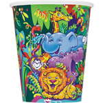 8 safari Paper Party Cups