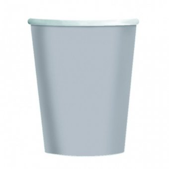 8 Silver Paper Party Cups