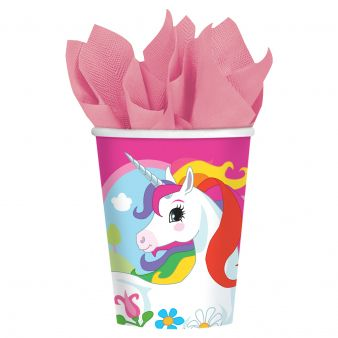 8 Unicorn Paper Cups