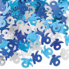 Blue Glitz 16th Birthday Party Confetti 14g