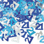 Blue Glitz 21st Birthday Party Confetti 14g