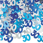 Blue Glitz 30th Birthday Party Confetti 14g