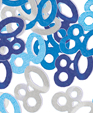 Blue Glitz 80th Birthday Party Confetti 14g
