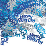 Blue Glitz 'Happy Birthday' Party Confetti 14g