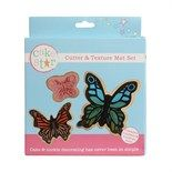 Butterfly Cutters and Texture Mat Set