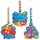Deep Sea Fun Hanging Cutout Party Decorations