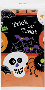 Halloween Spooky Smiles Plastic Tablecover