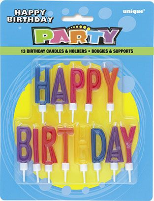 Happy Birthday Letters Candles 9087 P