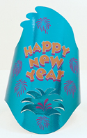 Happy New Year Foil Printed Hat