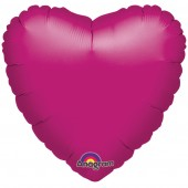 Heart Shaped Hot Pink Foil Helium Balloon