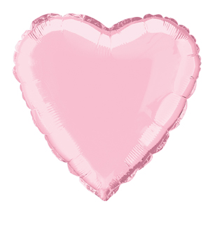 Heart Shaped Pastel Pink Foil Helium Balloon