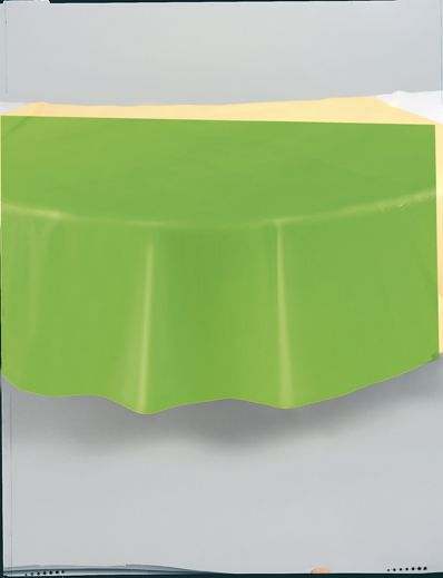 "Lime Green Round Tablecover 84""/ 213cm Diameter"
