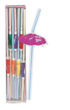 Luau Hawaiian Summer Umbrella Drinking Straws 25 pack